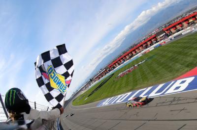 Truex Wins at Auto Club Speedway
