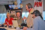 President of the Speedway Club Wanda Miller, joins Kurt Busch, Doug Rice and Kyle Petty.