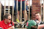 Doug Rice chats with Kurt Busch before his big win in Atlanta.