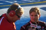 PRN's Jim Noble chatting with Jeff Gordon.