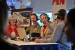Kyle Petty leads a Miller Lite toast to All Star Winner Kurt Busch.