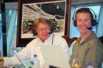 Artist Gary Hill sharing a laugh with Kurt Busch.