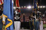 Jennifer Nettles sings the National Anthem