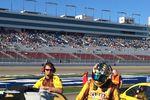 Kyle Busch during Kobalt 400 qualifying - 2014 Las Vegas Motor Speedway