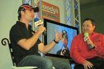 Jeff Gordon talking to Mark Garrow