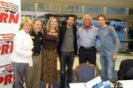 Speedway Club president; Wanda Miller, Doug Rice, Alicia Lingerfeldt, Patrick Dempsey, Ric Flair, Brad Keslowski
