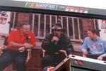 Doug Rice, Richard Petty and Brad Gillie on Jumbo-Tron